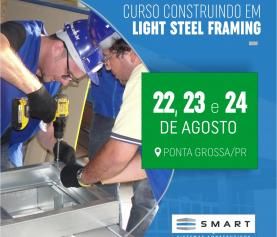 Construindo em Light Steel Framing<h6>22 à 24/08 &#8211; Clique aqui e faça sua matrícula</h6>
